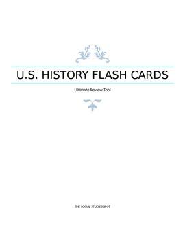 Ultimate U.S. History Flash Card Set