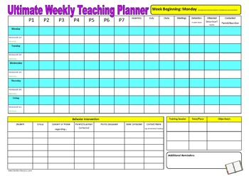 Ultimate Weekly Teaching Planner