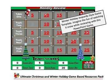 Holiday Resource Pack Christmas PowerPoint Games Christmas Bingo Board Games