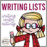 Writing Center: Writing Lists
