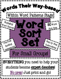 Words Their Way Based Word Sort Set-Within Word Patterns Stage