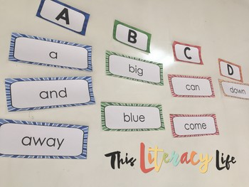 Ultimate Word Wall Bundle:  Primary Colors