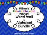 Word Wall and Alphabet Bundle - Print (Classic Chevron Pennant)