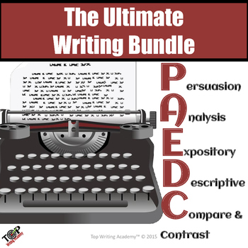 Essay Writing Bundle: Expository, Analysis,  Persuasive, Descriptive, Summaries