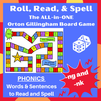 Ultimate ng/nk (welded sounds) Orton word cards, sentences, and game