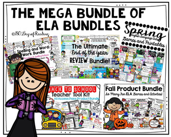 Phonics Worksheets and Games for the WHOLE YEAR BUNDLE
