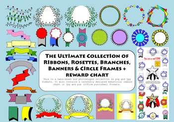 UltimatePackage Ribbons, Rosettes, Frames, Banners, Reward Chart