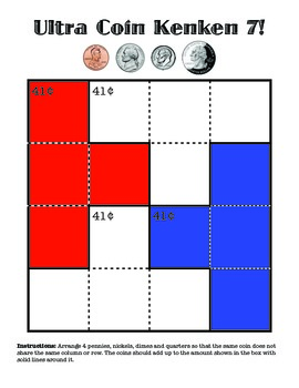 Money - Ultra Coin KenKen Puzzles: 10 Coin Challenges with Answers