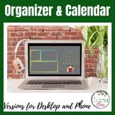 Ultra Modern Nature Girl Desktop/Phone Calendar & Organizer