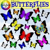Ulysses Butterflies Clipart (Jodi Bauer Creative Studios)