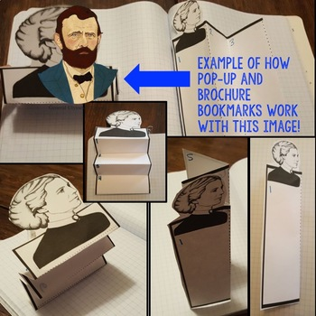 Ulysses S. Grant  Biography Research, Bookmark Brochure, Pop-Up, Writing, Google