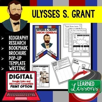 Ulysses S. Grant  Biography Research, Bookmark Brochure, P