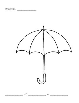 Umbrella Addition Math Mat