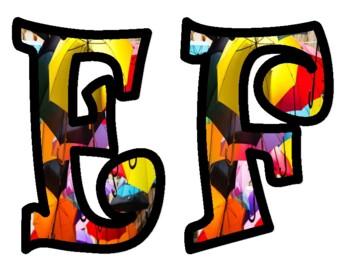 Umbrella Alphabet Bulletin Board Letters