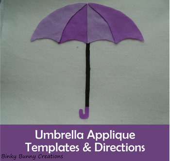 Umbrella Applique Template PDF Sewing Craft