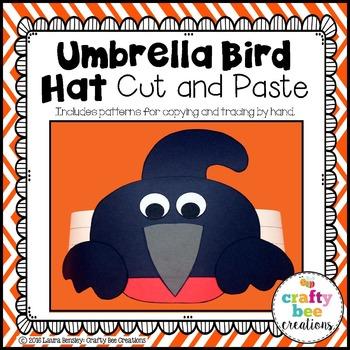 Umbrella Bird Hat Cut and Paste