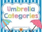 Umbrella Categories {vocabulary and language activities}