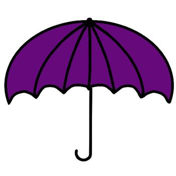 Umbrella Clip Art - FREEBIE