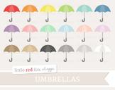 Umbrella Clipart; Weather, Rain, Accessories