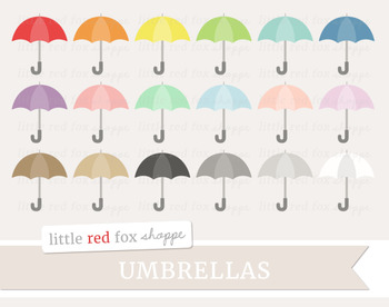 Umbrella Clipart; Weather, Rain, Accessories