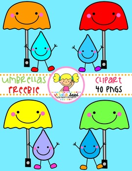 Umbrella Clipart Freebie