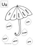 Umbrella Color Rain Drops