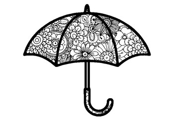 Umbrella Coloring Pages Spring Summer Fall Art Activity Spring Art Sub Plan