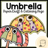 Umbrella - Craft & Coloring Page - Writing Activity