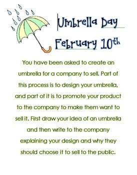 Umbrella Day Feb. 10th Writing Prompt