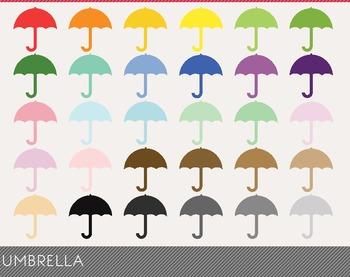 Umbrella Digital Clipart, Umbrella Graphics, Umbrella PNG