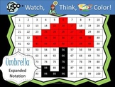 Umbrella Expanded Notation - Watch, Think, Color Game!