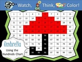 Umbrella Hundreds Chart Fun - Watch, Think, Color Game!