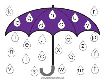 Umbrella Letter Mat for Letter Recognition