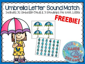 Umbrella Letter Sound Match