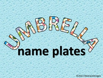 Umbrella Name Plates