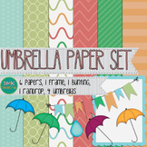 Digital Paper and Frame Set- Umbrella