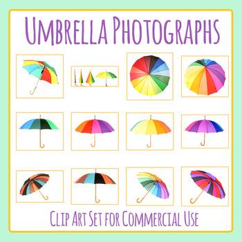 Umbrella Photos Clip Art Set for Commercial Use