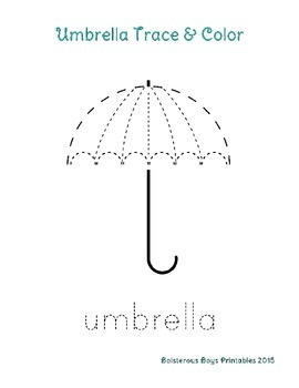 Umbrella PreK Printable Learning Pack