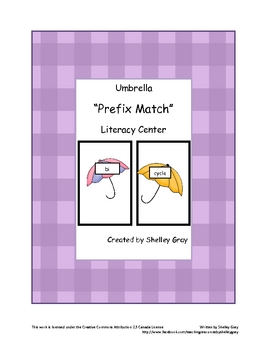 "Umbrella ""Prefix Match"" Literacy Center"
