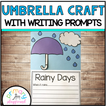 Umbrella Spring Rain Craft With Writing Prompts/Pages