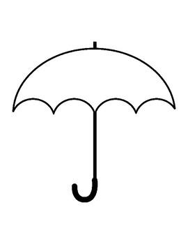 Umbrella Template for Art Project Umbrella Coloring Page Umbrella Outline Sheet