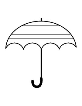 Umbrella Writing Paper Template With Lines