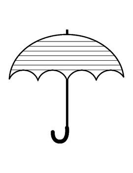 Umbrella Writing Paper Umbrella Template With Lines Writing Paper Umbrella