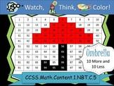 Umbrella Ten More/Ten Less - Watch, Think, Color Game! CCS