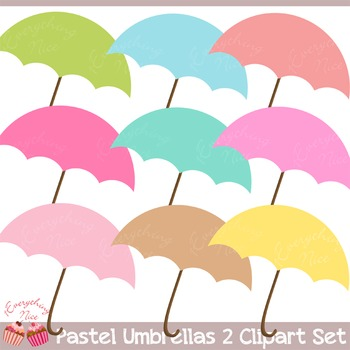Umbrella Umbrellas 2 Clipart Set