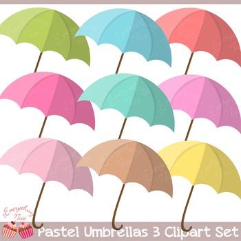 Umbrella Umbrellas 3 Clipart Set