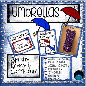 Umbrellas (Literacy and Math Activities)