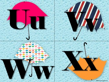 Umbrella Word Wall Tags