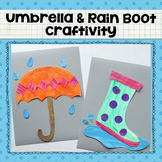 Umbrella and Rain Boot Printable Craftivity Template