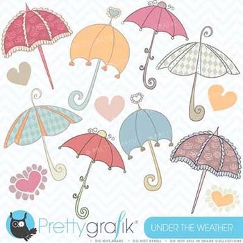 Umbrella clipart commercial use, vector graphics, digital